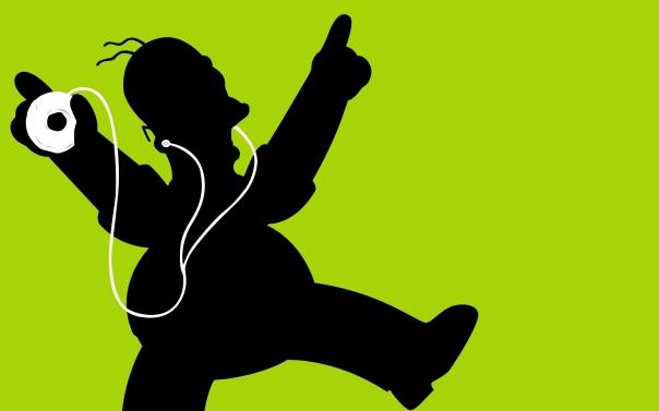 Homer-Simpsons-Music-Headphones-Anime
